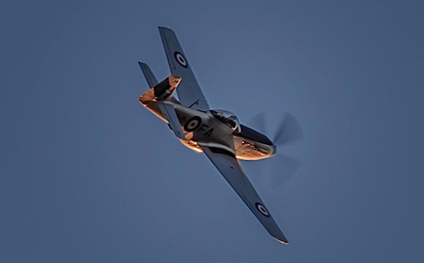 Aerial Salute by 'Snifter' - 25th April 2015 (Photo courtesy of Janette Cassidy)